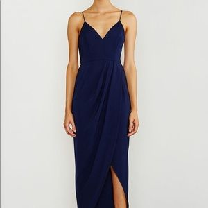 Shona joy draped dress navy never worn!
